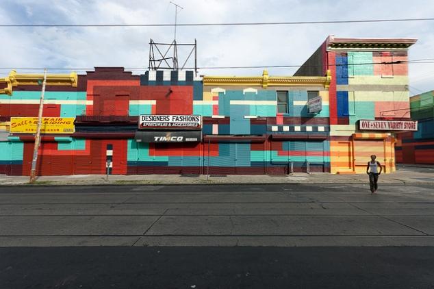 """Philly Painting"" mural, Philadelphia commercial corridor"