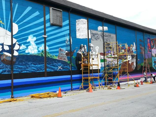 Kalmar Nyckel Shipyard Mural Project